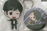 [Pre-owned] Badge and Acrylic Keychain (Hiroshi Kamiya)