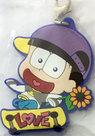 Osomatsu-san Rubber Mascot (Jyushimatsu) with clasp [Pre-owned]