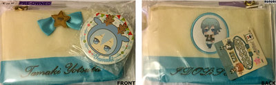 Pre-owned_yotsuba_tamaki_pouch_and_badge
