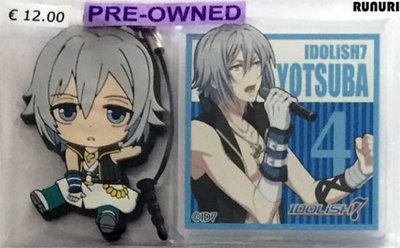[Pre-owned] IDOLiSH7 Rubber Strap and Acrylic Badge (Yotsuba Tamaki)